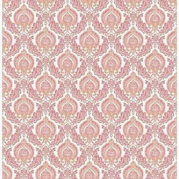 Brewster 2657-22230 Lulu Rose Damask Wallpaper