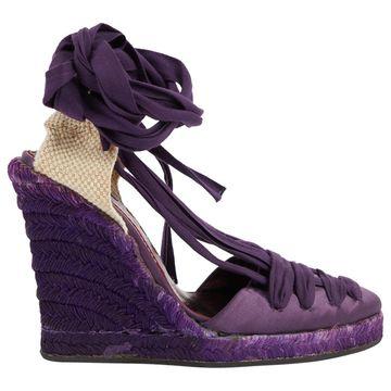 Emanuel Ungaro Purple Cloth Sandals
