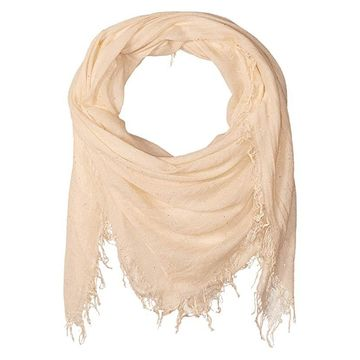 Chan Luu Solid Colored Scarf with Scattered Sequin (Lambs Wool) Scarves