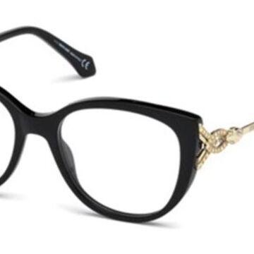 Roberto Cavalli RC 5053 FOLLONICA 001 Womenas Glasses Black Size 49 - Free Lenses - HSA/FSA Insurance - Blue Light Block Available