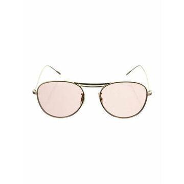 Round Tinted Sunglasses Gold