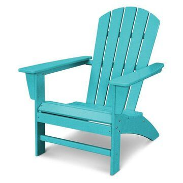 POLYWOOD Nautical Adirondack Chair in Aruba
