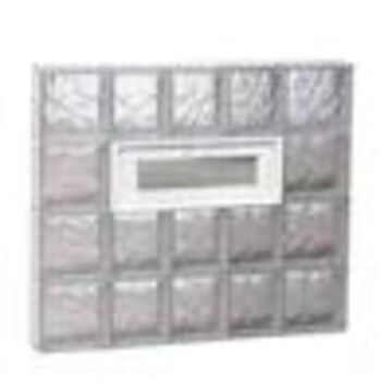 REDI2SET Wavy Glass Pattern Frameless Replacement Glass Block Window (Rough Opening: 34-in x 32-in; Actual: 32.75-in x 31-in)