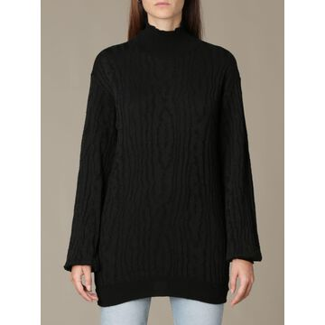 Manila Grace Oversized Pullover In Textured Fabric