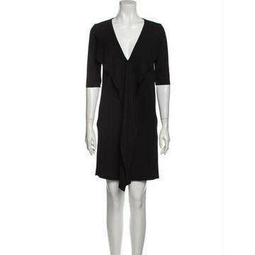 Alysi V-Neck Knee-Length Dress w/ Tags Black Alysi V-Neck Knee-Length Dress w/ Tags