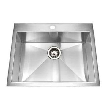 "Houzer BCS-2522 Bellus 25"" Single Basin Drop In 18-Gauge Stainless - Stainless Steel"