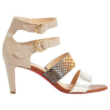 Christian Louboutin Multicolour Leather Sandals