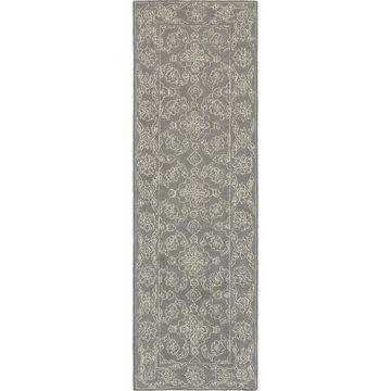 Soothing Traditions Loop Pile Grey/ Stone Rug (2'6 X 8') - 2'6