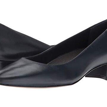 Walking Cradles Heidi (Navy Leather) Women's 1-2 inch heel Shoes