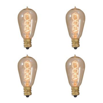 Bulbrite Set Of 4 Incandescent Nostalgic Bulbs