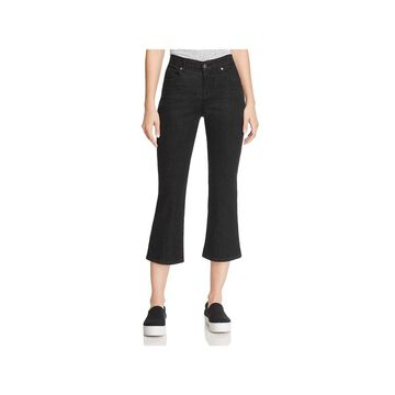 Eileen Fisher Womens Cropped Jeans Flared Bootcut