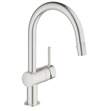 GROHE Minta SuperSteel Single-Handle Kitchen Faucet