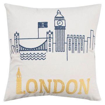 Rizzy Home Camila London Pillow
