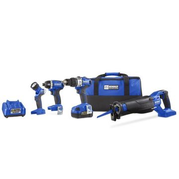 Kobalt 4-Tool 24-Volt Max Brushless Power Tool Combo Kit with Soft Case (Charger Included and 1-Battery Included)