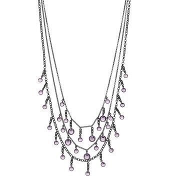 Simply Vera Vera Wang Chanel Multi Row Necklace