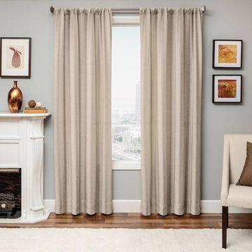 Softline 1-Panel Azure Mirror Window Curtain