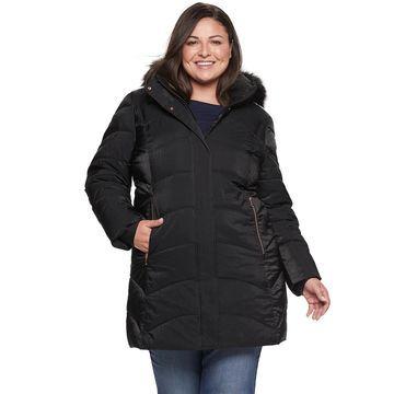 Plus Size ZeroXposur Freya Heavyweight Shimmer Coat
