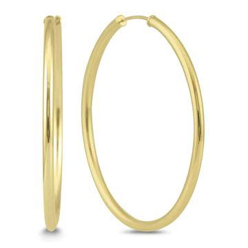 Marquee Jewels 14k Yellow 40-millimeter Gold Endless Hoop Earrings