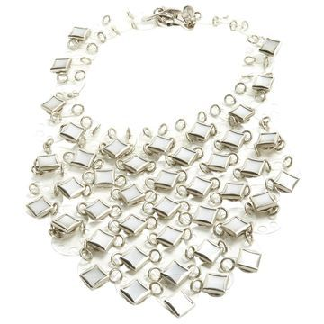 Paco Rabanne Silver Metal Necklaces