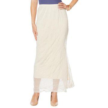 Heidi Daus U Got Have It Crinkle Mesh Pull-On Skirt