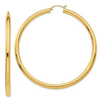 Versil 14 Karat Hoop Earrings
