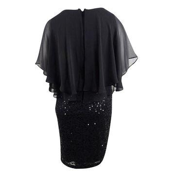 Alex Evenings Women's Plus Size Ruffled Popover Dress