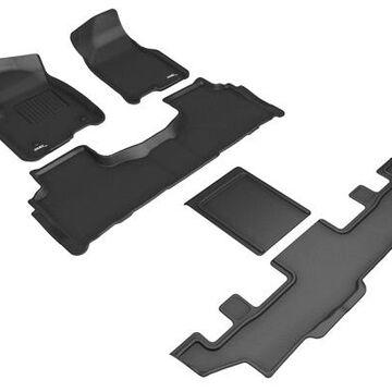 3D Maxpider Kagu Floor Mats, Floor Mat Set - KAGU Floor Mat - Front, Rear and Third Row - PN L1GM02901509 in Black