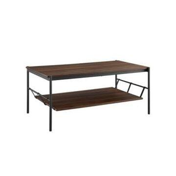 Walker Edison Modern Hammock Shelf Coffee Table