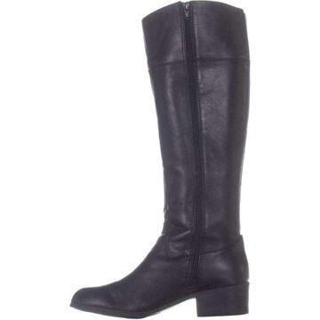 Alfani Womens Briaah Leather Open Toe Knee High Fashion Boots