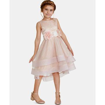 Little Girls Floral-Trim Dress