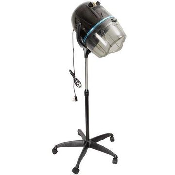 Adjustable Stand Up Hood Floor Hair Bonnet Dryer Rolling Base Salon Wheels New