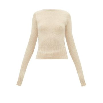 Lemaire - Boat-neck Wool Sweater - Womens - Beige