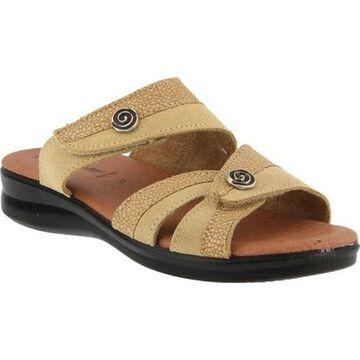 Flexus by Spring Step Women's Quasida Slide Sandal Beige Multi
