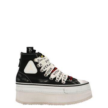 R13 double Grommet Platform Shoes