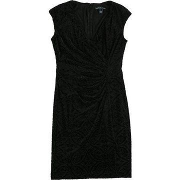 American Living Womens Velvet A-line Dress
