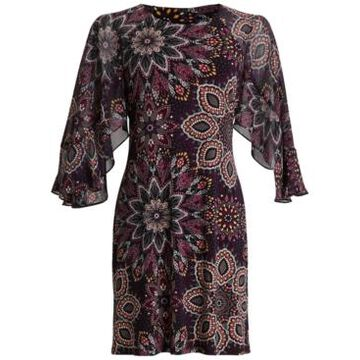 Connected Petite Chiffon Printed Fit & Flare Dress