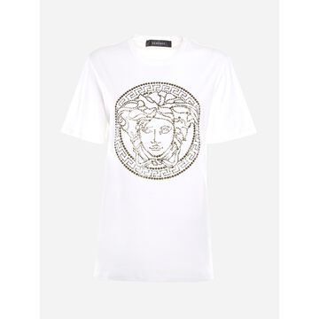 Versace Cotton T-shirt With Jellyfish Head Motif