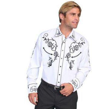 Scully Legends Men's Poly/Rayon Blend Snap Front Shirt, P-706-JET-L