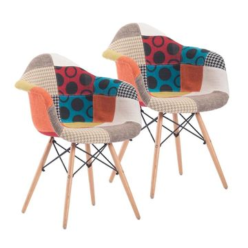 Porthos Home Idelle Modern Dining Chairs Set of 2, Fabric & Beech