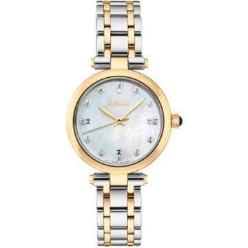 Seiko Women's Diamond-Accent Two-Tone Stainless Steel Bracelet Watch 30mm
