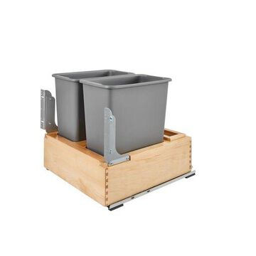 Rev-A-Shelf Double 7.5 Gallon Open Pull Out/Under Counter Trash Can