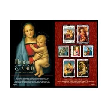 American Coin Treasures Madonna and Child United States Postage Stamp Collection