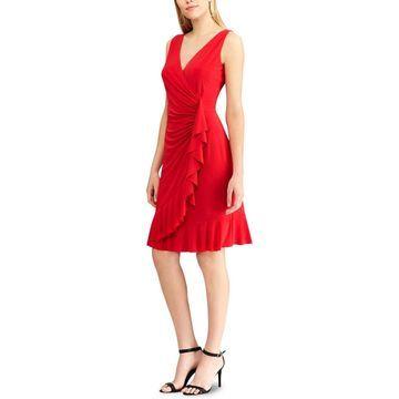 American Living Womens Party Dress Mini Ruffled