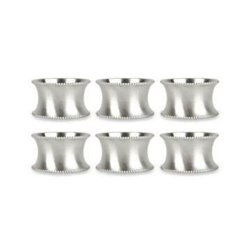 Design Imports Beaded Napkin Ring, Set of 6