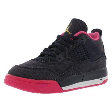 Jordan Retro 4 Basketball Preschool Girl's Shoes