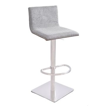 Armen Living Crystal Adjustable Bar Stool