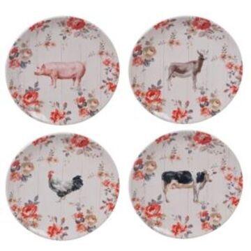Certified International Farmhouse Dinner Plates, Set of 4