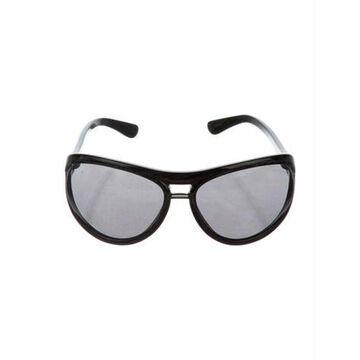 Oversize Mirrored Sunglasses Black