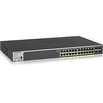 NETGEAR 24-Port Gigabit PoE+ Smart Managed Pro Switch with 4 SFP Ports