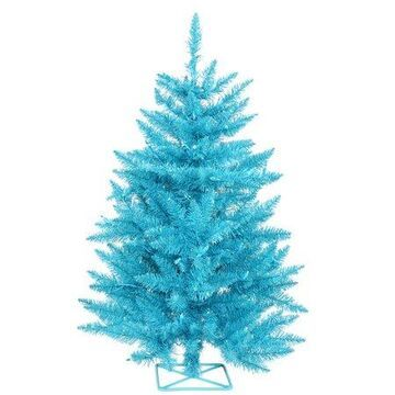 Vickerman 3' Sky Blue Artificial Christmas Tree with 70 Teal LED Lights